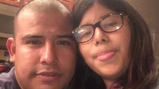 Jose Gonzalez Carranza and his 12-year-old daughter, who is a US citizen