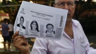 Fotocopias de papeletas en Colombia.