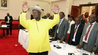 Perezida Museveni ari mu nama ya mbere yahuje intumwa z'Uburundi i Kampala
