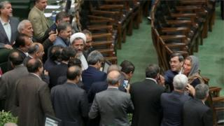 ایرانی پارلیمان میں موگرینی