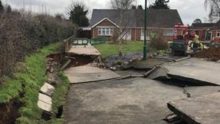 The sinkhole in Barming