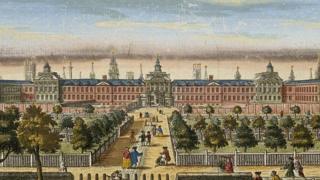 Ilustración del hospital de Bedlam