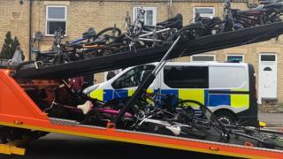 Suspected stolen bicycles