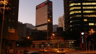 The headquarters of Barclays' South African subsidiary Absa bank in Cape Town