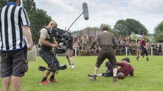 The English Game filming