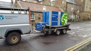 Environment Agency with water pumps