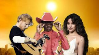 Ed Sheeran, Lil Nas X and Camila Cabello