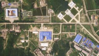 A satellite image shows the Sanumdong missile production site in North Korea on July 29, 2018.