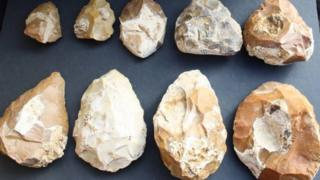 Stone tools from Jaljulia near Tel Aviv