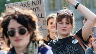 Pro-choice protest in Northern Ireland