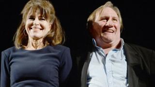 Fanny Ardant and Gerard Depardieu