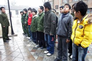 Some 20-odd teenagers assemble at the Internet Addiction Treatment Centre in the southeastern suburb of Daxing in Beijing, 1 March 2007, all placed there involuntarily by their family, to go through a strict regimen that might as well be boot camp -- and for good reason, since this is an army-run clinic inside a military district.