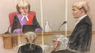 Rolf Harris court sketch