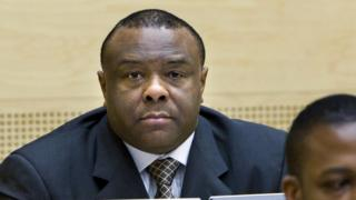Congolese rebel warlord and Democratic Republic of Congo Vice President Jean-Pierre Bemba attends a hearing at the International Criminal Court in the Hague