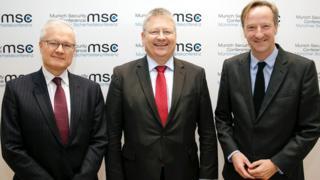 Spy chiefs, L-R: Bernard Emie (DGSE), Bruno Kahl (BND), Alex Younger (MI6)