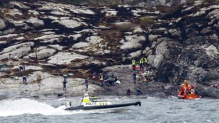 scene of Norway crash