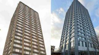 Grenfell Tower before and after the refurbishment