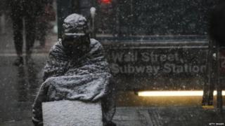 न्यूयॉर्क में ठंड