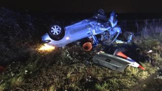 Crash M5 in Gloucestershire