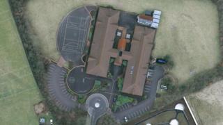 Aerial shot of St Ronan's PS