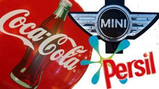 Logos da Coca-Cola, Mini e Persil
