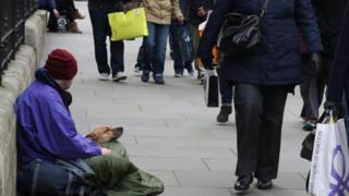 На улице в Лондоне