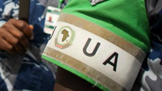 African Union officers in Somalia