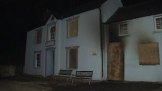 Fire at Bessie's pub