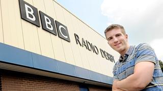 Colin Bloomfield outside Radio Derby