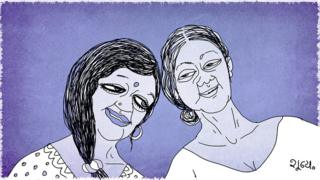 Illustration of two women