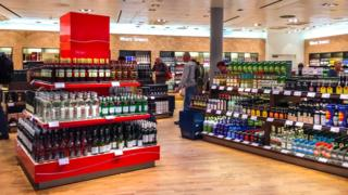 Inside duty free shop