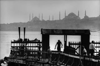 Salacak landing-stage and Istanbul silhouette, 1968.