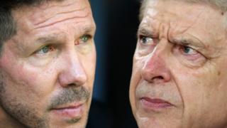 Diego Simeone and Arsene Wenger