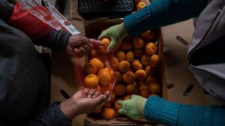 Vendedores de naranjas