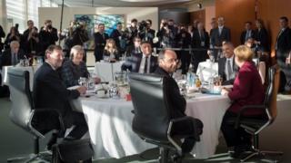 نشست رهبران اروپایی و آمریکا در برلین