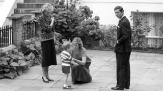 Prince William at nursery school in 1985