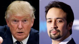 Donald Trump and Lin-Manuel Miranda