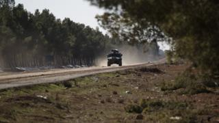 Türkiye'ye ait zırhlı araç El Bab operasyonunda