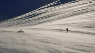Mark Bull took this picture of his partner Gillian Duncan ski touring on Sgairneach Mhor, above Drumochter Pass