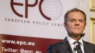 Donald Tusk speaks in Brussels. Photo: 13 October 2016