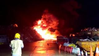 Dorchester scrap metal fire