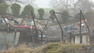 A shed was badly damaged in a fire near Enniskillen last Friday night