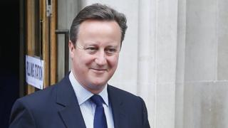 David Cameron voting in EU referendum