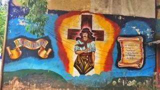 La Boca'da bir duvar