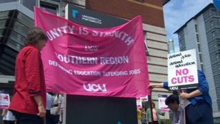 University of Portsmouth protest on 10 July 2019