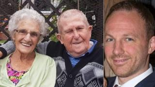 Stuart Ratcliffe, aged 40, from Rothwell and his grandparents, Fred, aged 98, and his wife Jean, aged 90, from Northampton