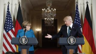 ترامپ و مرکل