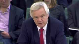 David Davis speaks to MPs on the Commons Exiting the EU committee
