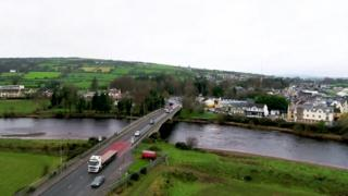 Traffic currently drives over Irish border roads without impediment