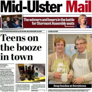 The front page of the Mid-Ulster Mail